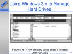 using windows 3 x to manage hard drives48