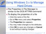 using windows 3 x to manage hard drives51