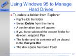 using windows 95 to manage hard drives57