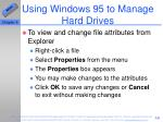 using windows 95 to manage hard drives59
