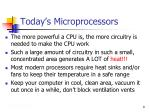 today s microprocessors