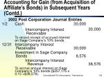 accounting for gain from acquisition of affiliate s bonds in subsequent years contd139