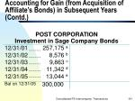 accounting for gain from acquisition of affiliate s bonds in subsequent years contd141