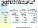 accounting for gain from acquisition of affiliate s bonds in subsequent years contd151