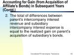 accounting for gain from acquisition of affiliate s bonds in subsequent years contd153