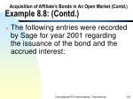 acquisition of affiliate s bonds in an open market contd example 8 8 contd123