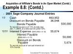 acquisition of affiliate s bonds in an open market contd example 8 8 contd124