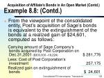 acquisition of affiliate s bonds in an open market contd example 8 8 contd129