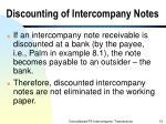 discounting of intercompany notes