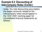 example 8 2 discounting of intercompany notes contd17