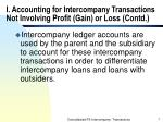 i accounting for intercompany transactions not involving profit gain or loss contd