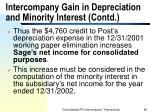 intercompany gain in depreciation and minority interest contd