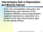 intercompany gain in depreciation and minority interest