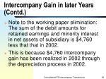 intercompany gain in later years contd