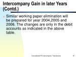 intercompany gain in later years contd87