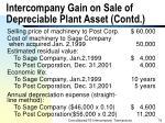 intercompany gain on sale of depreciable plant asset contd