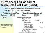 intercompany gain on sale of depreciable plant asset contd75