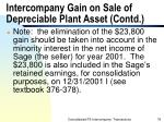 intercompany gain on sale of depreciable plant asset contd78