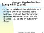 intercompany gain on sale of land contd example 8 5 contd64