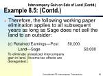 intercompany gain on sale of land contd example 8 5 contd69