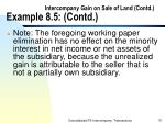 intercompany gain on sale of land contd example 8 5 contd70