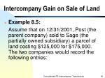 intercompany gain on sale of land