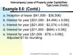 intercompany lease of property under capital sale type lease contd example 8 6 contd100