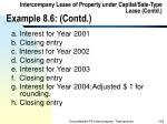 intercompany lease of property under capital sale type lease contd example 8 6 contd102