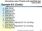 intercompany lease of property under capital sale type lease contd example 8 6 contd110