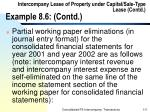 intercompany lease of property under capital sale type lease contd example 8 6 contd111