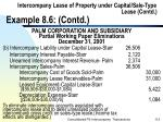 intercompany lease of property under capital sale type lease contd example 8 6 contd112