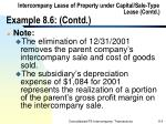 intercompany lease of property under capital sale type lease contd example 8 6 contd114
