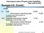intercompany lease of property under capital sale type lease contd example 8 6 contd94