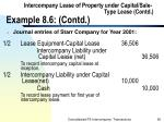 intercompany lease of property under capital sale type lease contd example 8 6 contd95