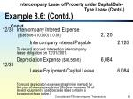 intercompany lease of property under capital sale type lease contd example 8 6 contd96