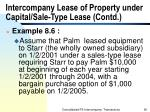 intercompany lease of property under capital sale type lease contd
