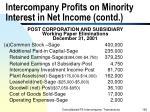 intercompany profits on minority interest in net income contd
