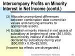 intercompany profits on minority interest in net income contd164
