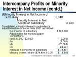 intercompany profits on minority interest in net income contd168
