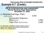 intercompany sales of intangible assets contd example 8 7 contd119