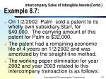 intercompany sales of intangible assets contd example 8 7