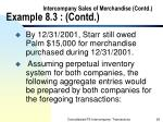 intercompany sales of merchandise contd example 8 3 contd