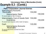 intercompany sales of merchandise contd example 8 3 contd30