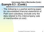 intercompany sales of merchandise contd example 8 3 contd32