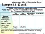intercompany sales of merchandise contd example 8 3 contd33