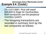 intercompany sales of merchandise contd example 8 4 contd