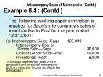 intercompany sales of merchandise contd example 8 4 contd42