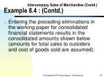 intercompany sales of merchandise contd example 8 4 contd43
