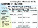 intercompany sales of merchandise contd example 8 4 contd44