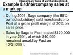 intercompany sales of merchandise contd example 8 4 intercompany sales at a mark up